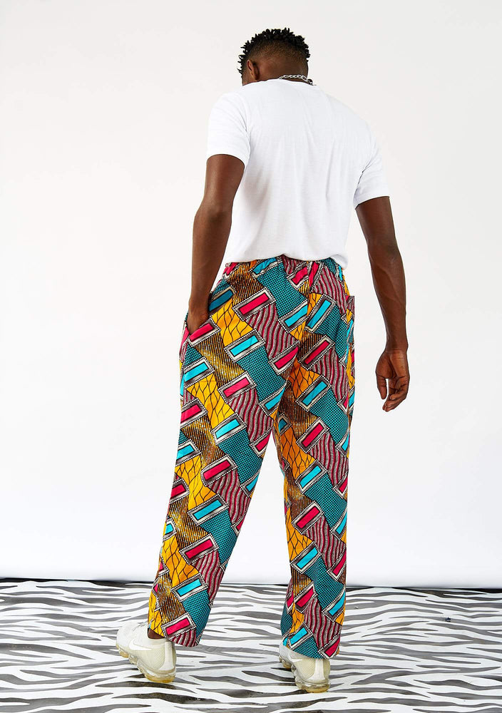 YEVU Men - Trousers Drawstring Pants - Belts