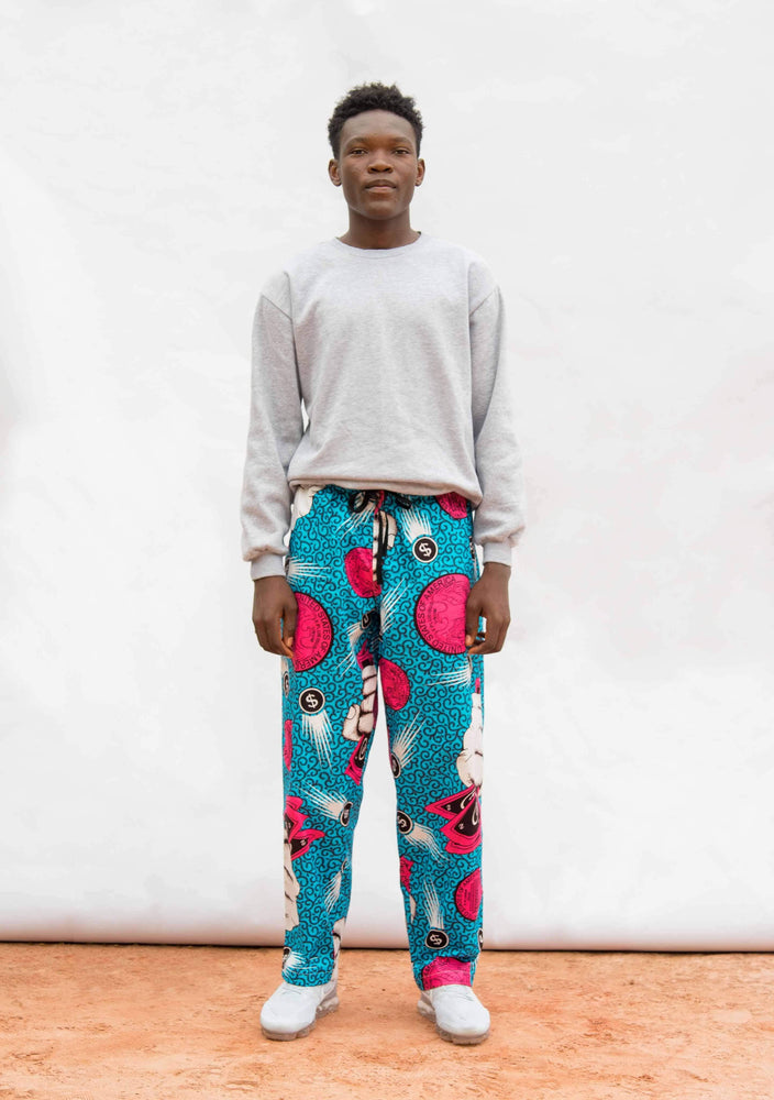 YEVU Men - Trousers Drawstring Pants - Dollar Billz