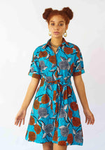 YEVU Women - Dress Half Drawstring Dress - Native