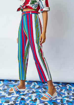 YEVU Women - Trousers Harry High Pants - Lines