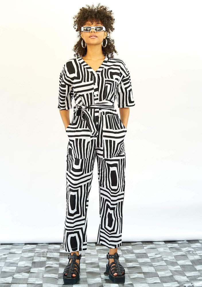 Lax Jumpsuit -Monochrome