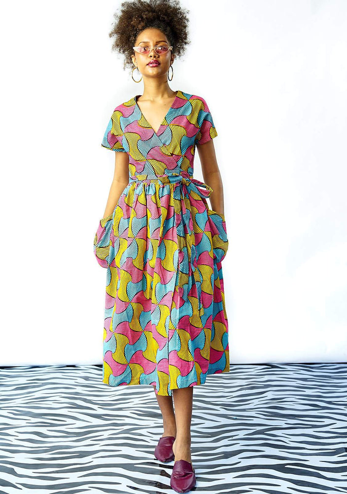 Midi Wrap Dress - Lolly Pops