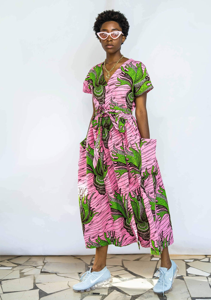 Midi Wrap Dress - Staghorn