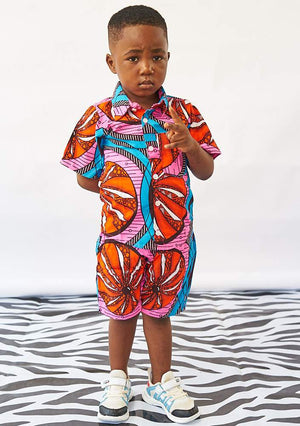 YEVU Kids Mini Shirt - Tangerine Dreams