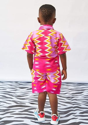 YEVU Kids Mini Shorts - Layer Cake