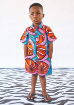 YEVU Kids Mini Shorts - Tangerine Dreams