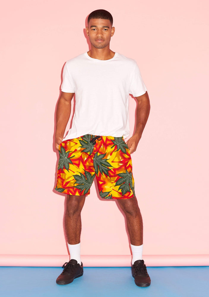 YEVU Men - Shorts Shorts - Inferno