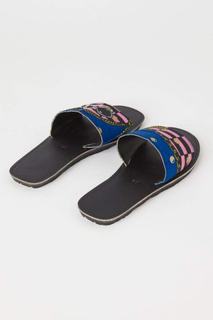 YEVU Accessories - Shoes Slides - Versace Blue