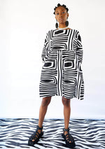 Smock Dress - Monochrome