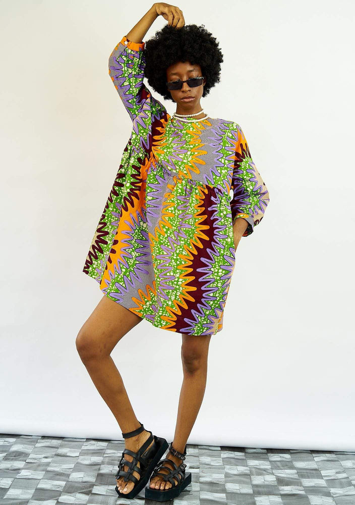Smock Dress - Zig Zag