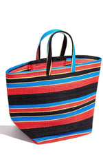 Yevu Accessories - Bag Togo Bag  - Blue, Black, Cream & Red
