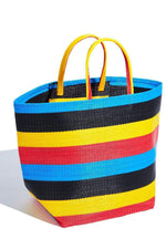 Yevu Accessories - Bag Togo Bag  - Yellow, Black, Red & Blue