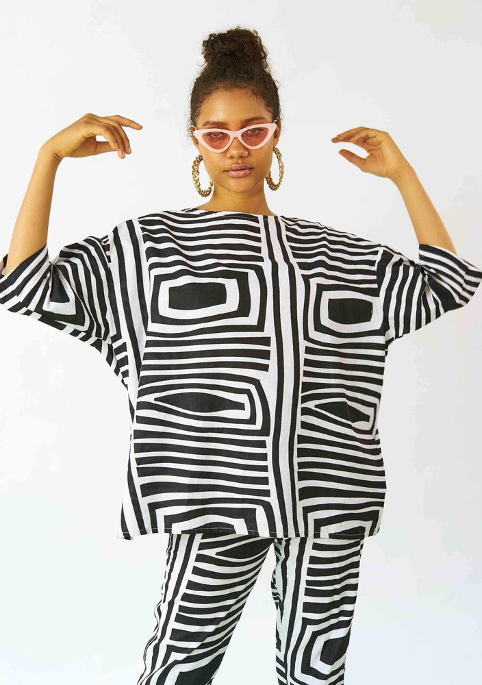 Tunic Top - Monochrome