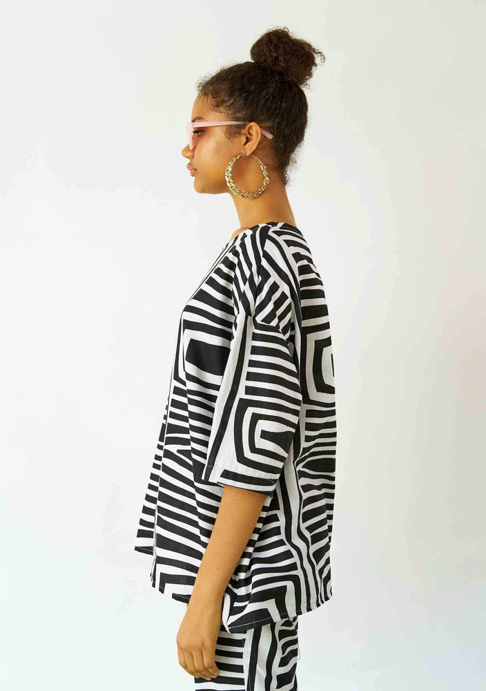 YEVU Women - Top Tunic Top - Monochrome
