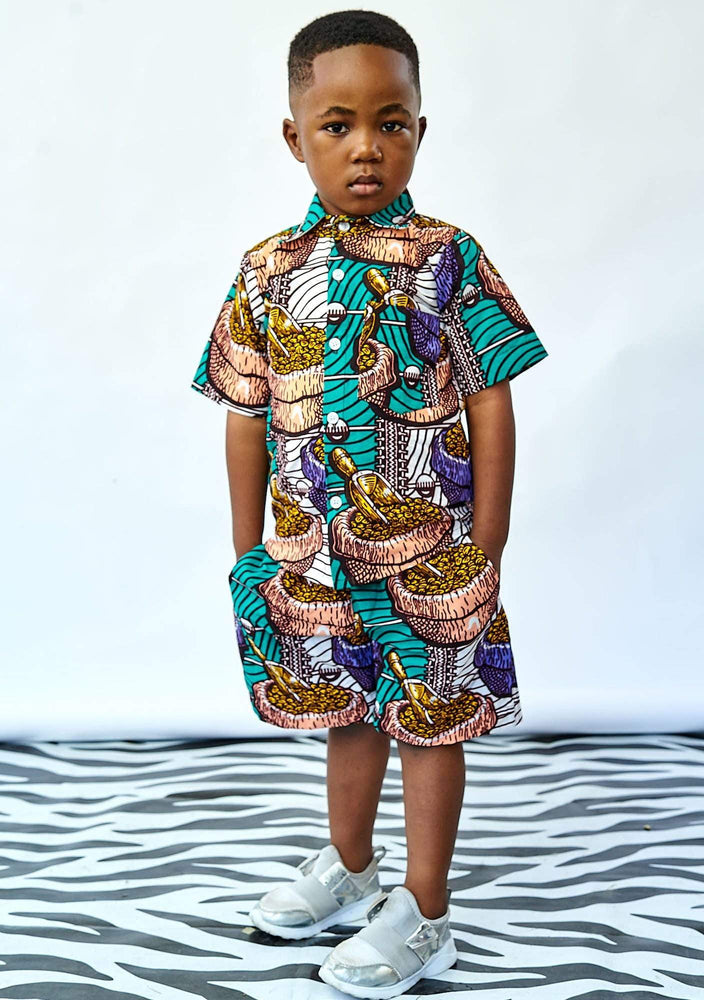 YEVU VIP Kids Mini Shirt - Cocoa