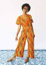 Wrap Body Jumpsuit - Lava Lamp
