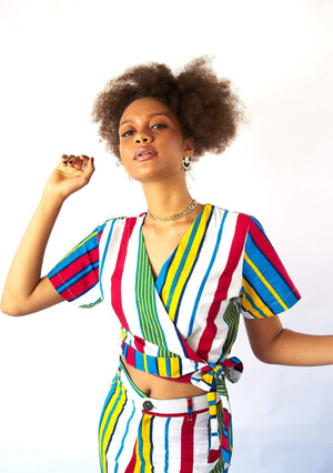 YEVU Women - Top Wrap Top - Lines