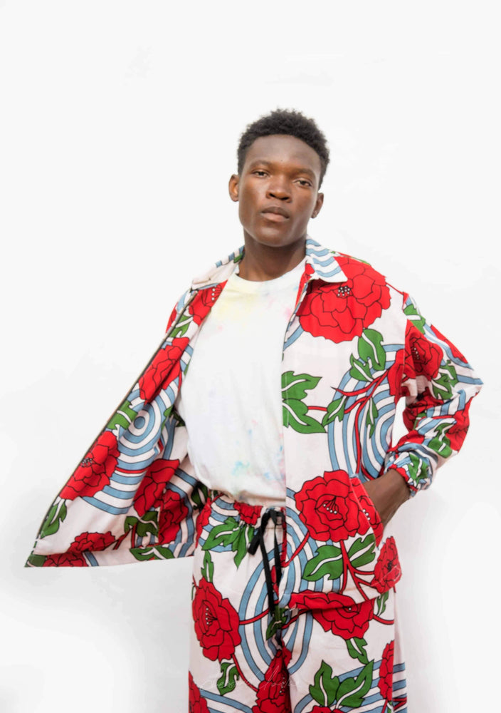 YEVU Men - Jacket Zip Jacket - Roses