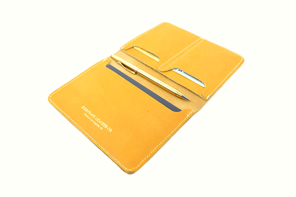 Passport Case: Yellow Gold