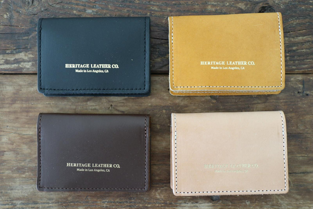 Leather Card Case: Gold Yellow