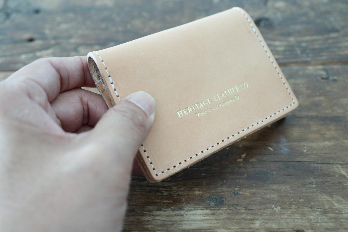 Leather Card Case: Natural