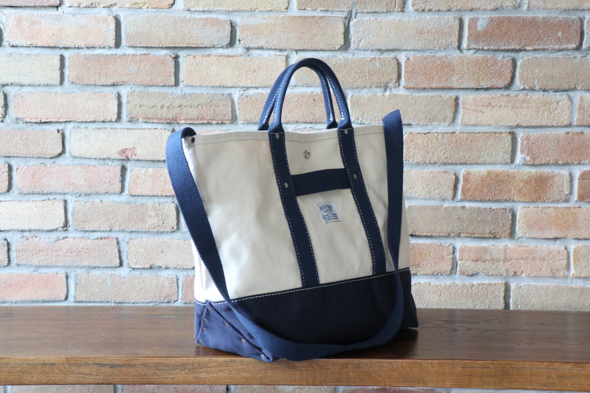 Pop Tote: Natural / Navy