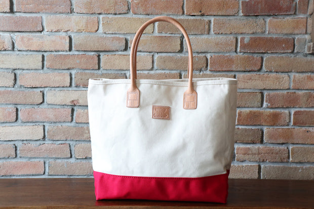 Day Tote:          Natural / Red