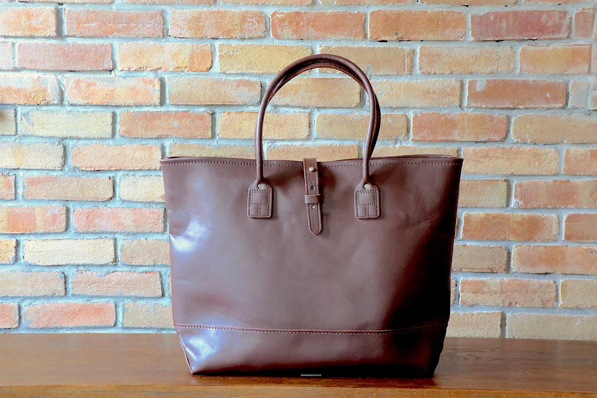 Leather Tote: Brown