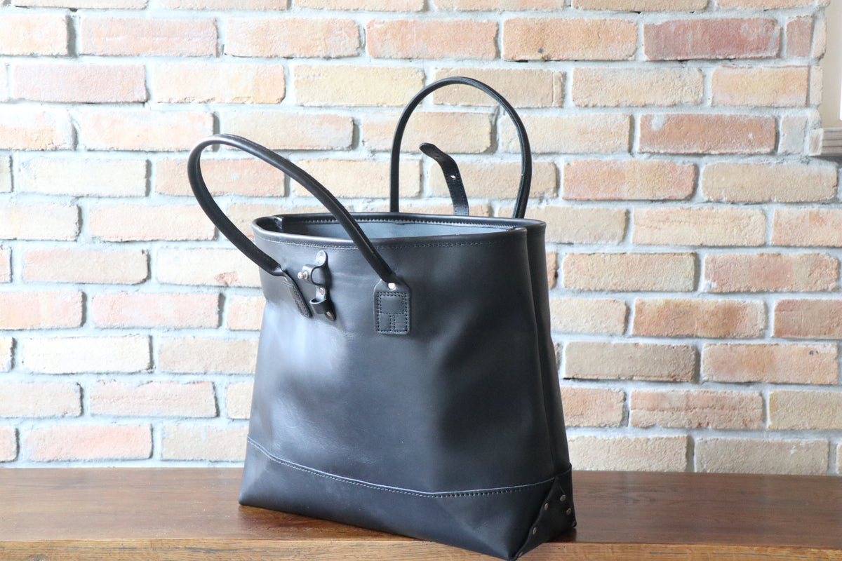 Leather Tote: Black