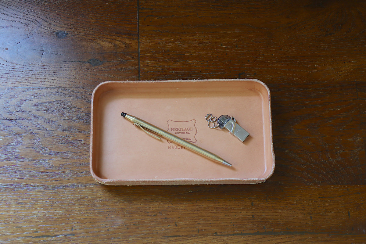 Leather Valet Tray (M):