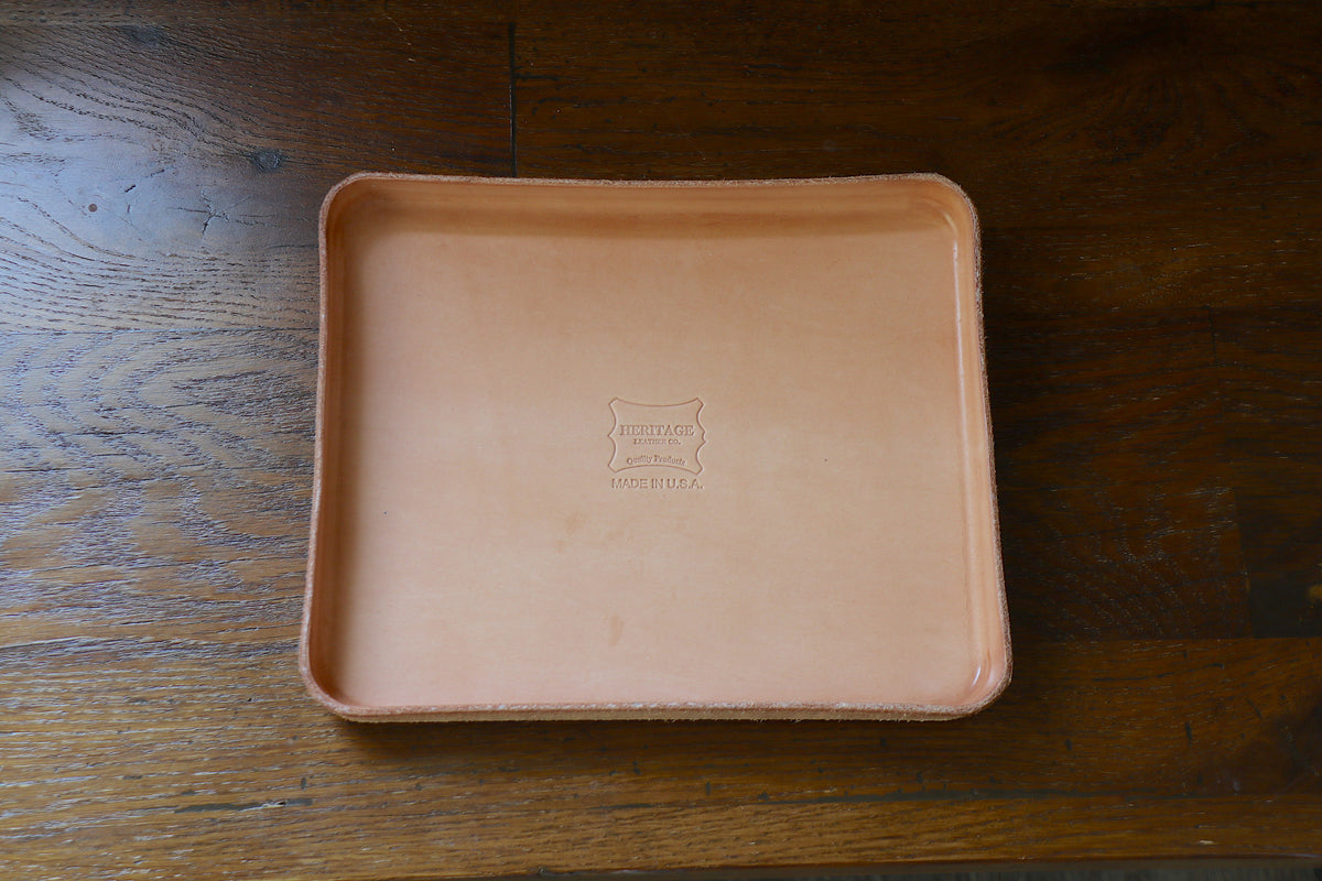 Leather Valet Tray (L)