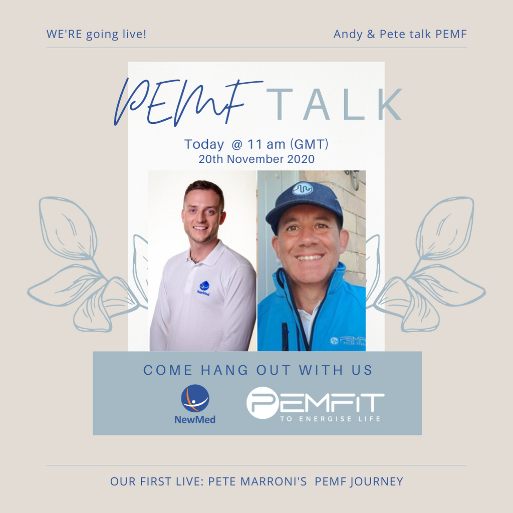 PEMF Talk – our new LIVE concept for 2020 Let's get talking, sharing and learning about PEMF therapy!