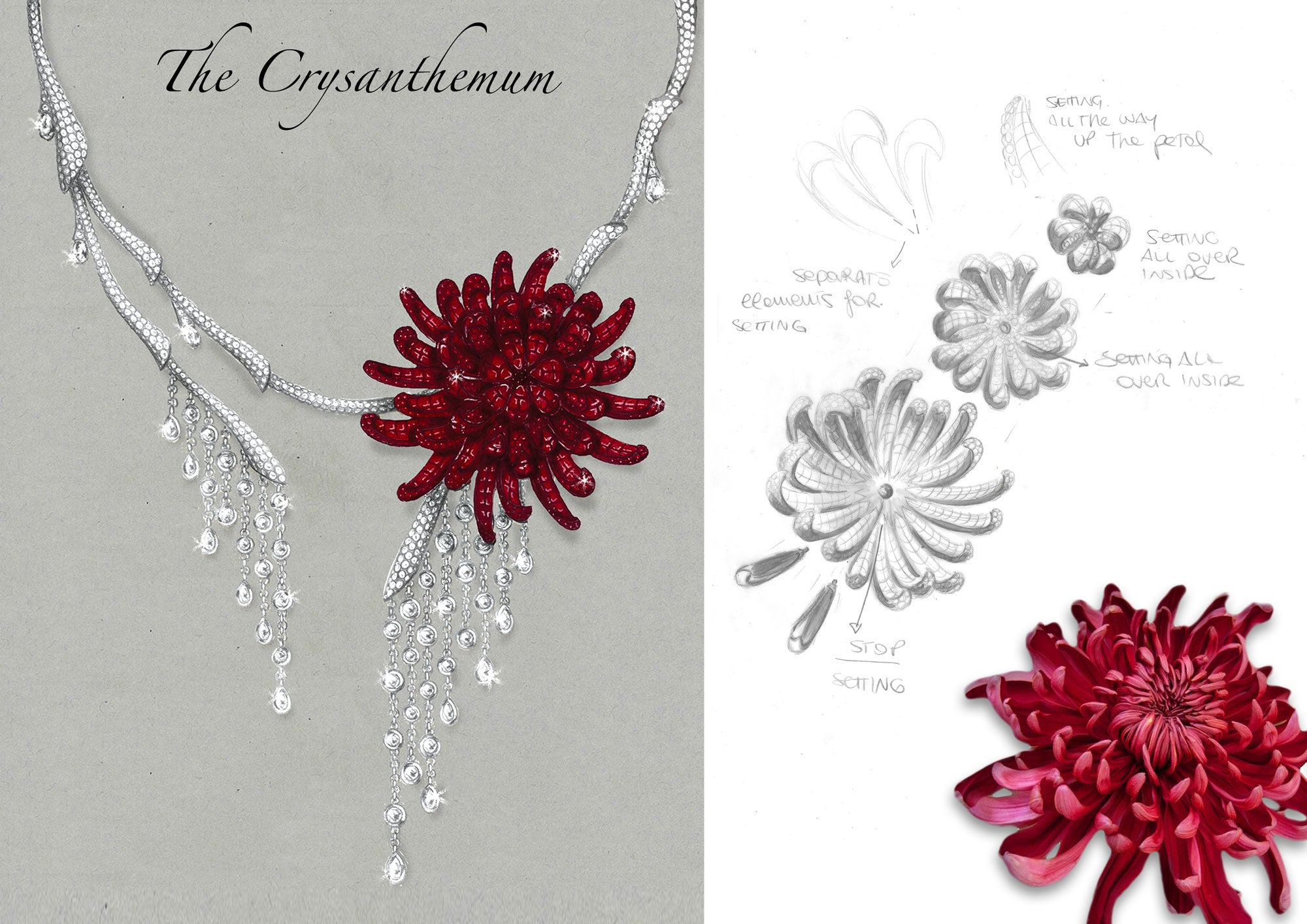 Stenzhorn Chrysanthemum Necklace