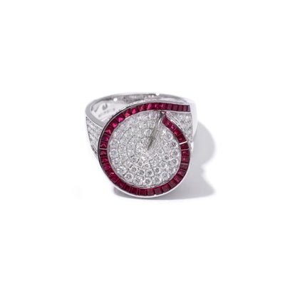 VINTAGE: Ring Diamond Ruby