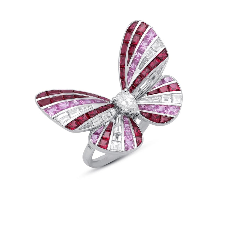 BUTTERFLY LOVERS Ruby Ring