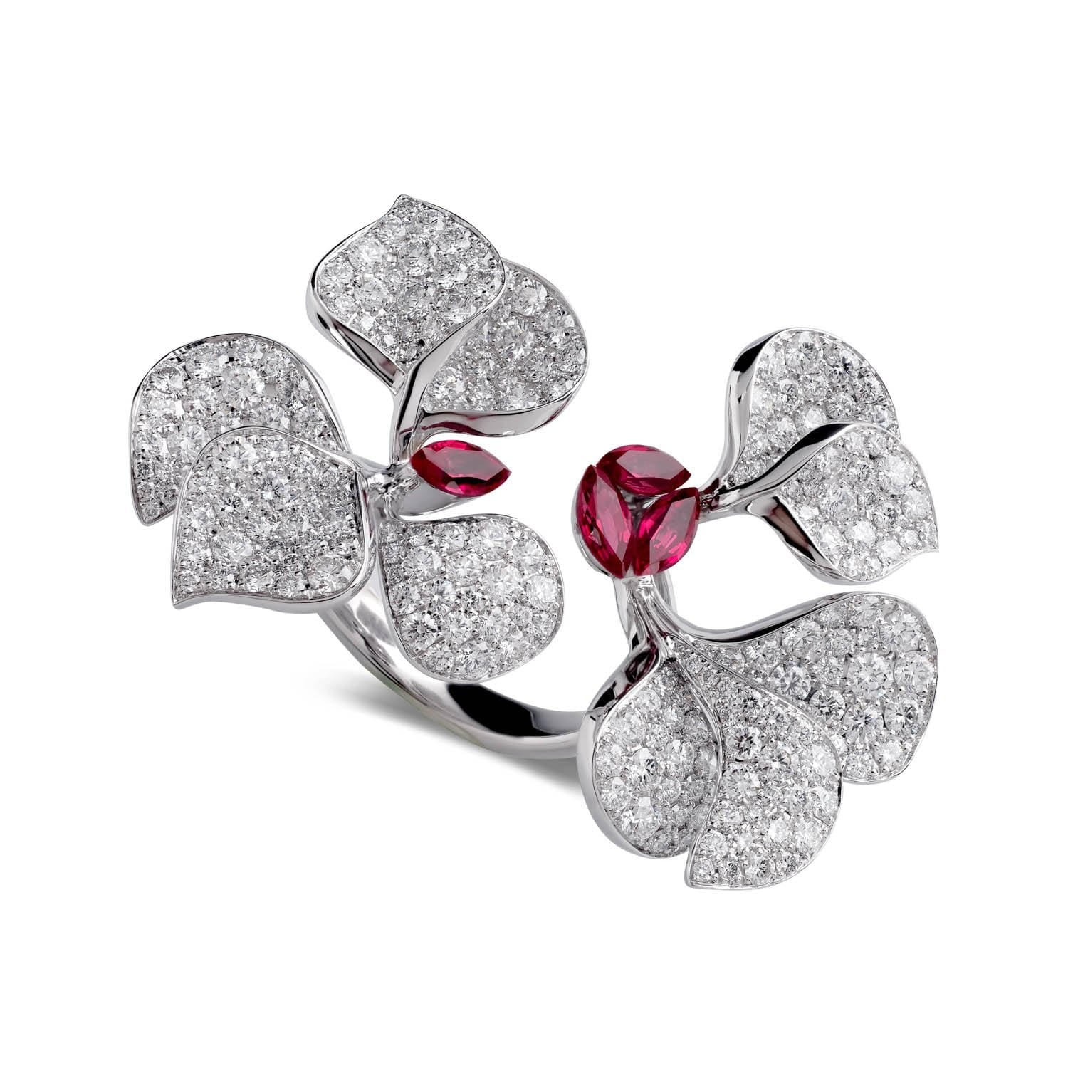 À FLEUR DE PARIS Ruby Double Ring