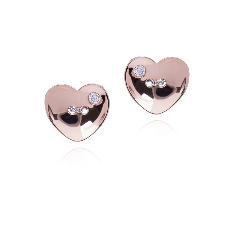CHAIN MY HEART Earrings - STENZHORN JEWELLERY