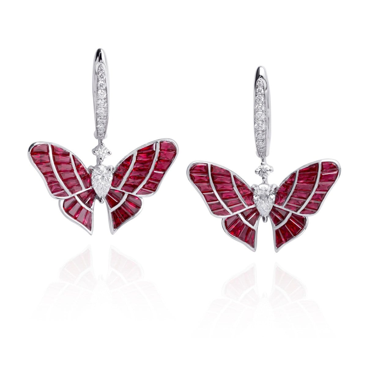 BUTTERFLY LOVERS Ruby Earrings