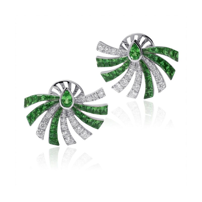 PERSUASION TSAVORITE Earrings - STENZHORN JEWELLERY