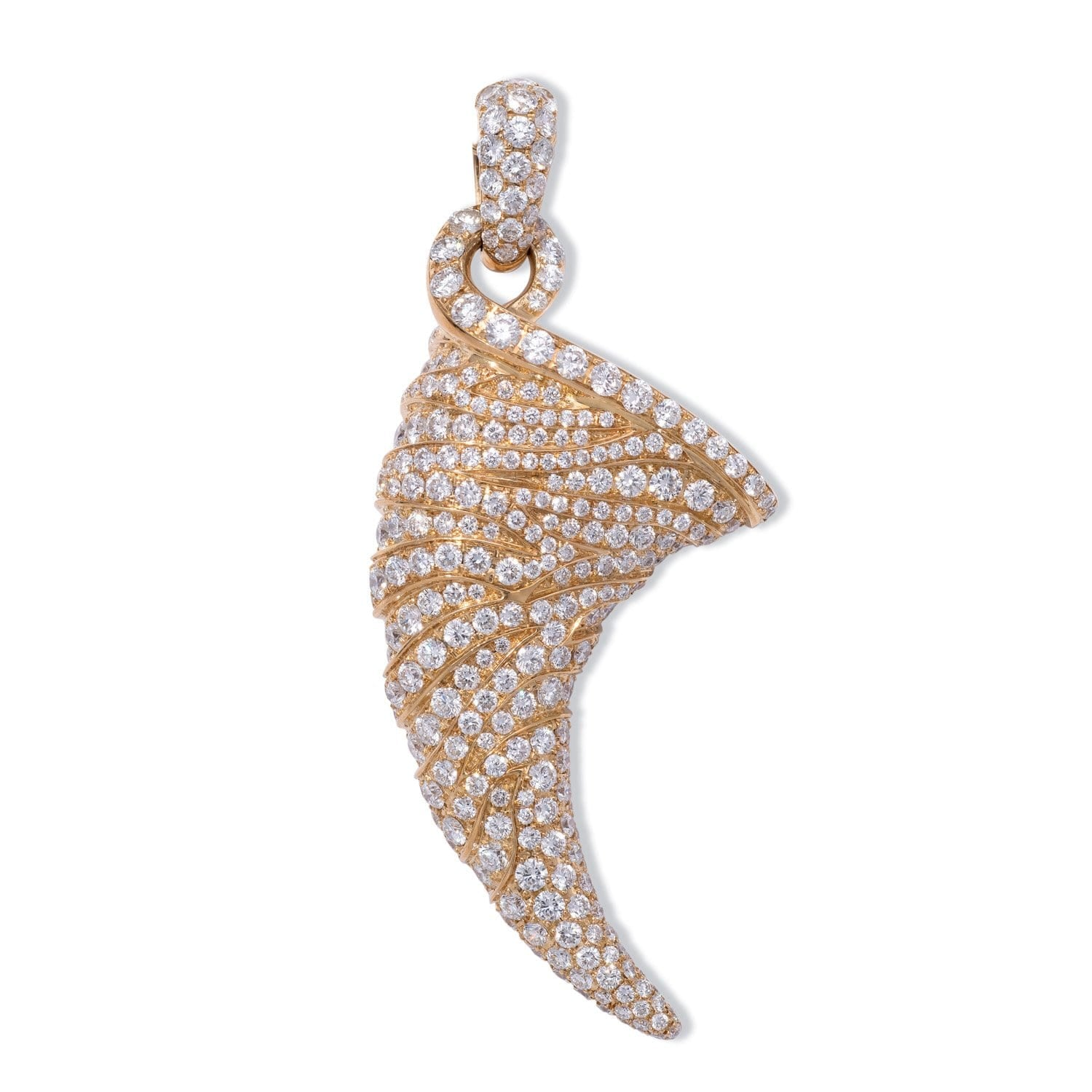 VINTAGE: Wild Life Claw Diamond Yellow Pendant