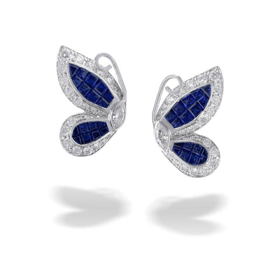 VINTAGE: MOSAIC Earrings, Butterfly Sapphire
