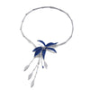 Invisible setting jewelry, sapphires, diamonds, flower, wild orchid