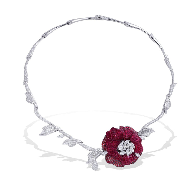 SNOW WHITE AND ROSE RED Necklace