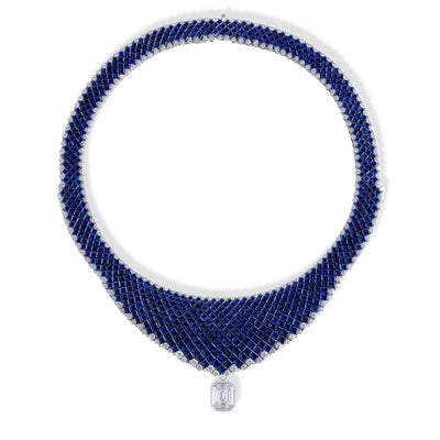 OVIDIO SAPPHIRE NECKLACE - STENZHORN JEWELLERY