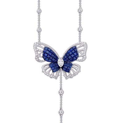 MADEMOISELLE B., KIMONO Necklace in sapphires - STENZHORN JEWELLERY