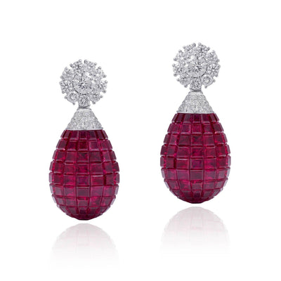 MOSAIC CLASSICAL Earrings, DROPS - STENZHORN JEWELLERY
