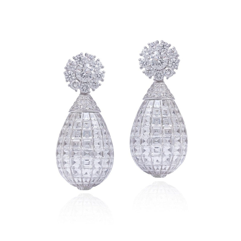 MOSAIC CLASSICAL Drop All Diamond Earrings