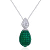 MOSAIC CLASSICAL Drop Emerald Pendant