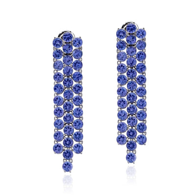 VINTAGE: 2NDSKIN Earrings Tanzanite