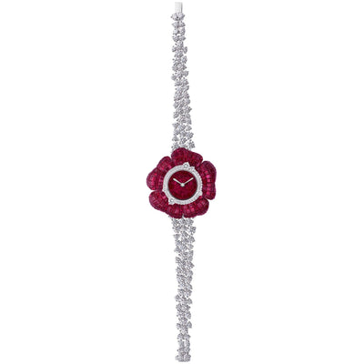 FLORAL, Floral Sunrise Ruby Watch